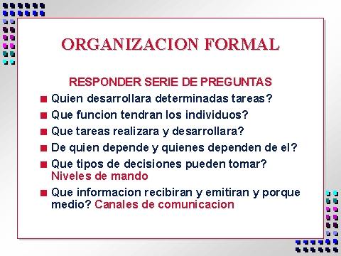 Organizacion Formal